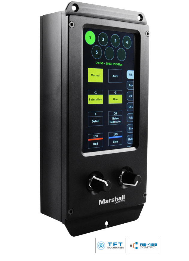 Marshall CV-RCP-V2 Multi-Camera Control Touchscreen RCP Image