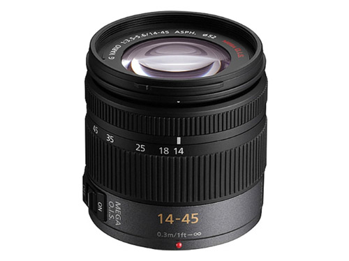 Panasonic - Lumix H-FS014045E Zoom lens - 14-45mm - F/3.5-5.6 - Micro Four Thirds Image