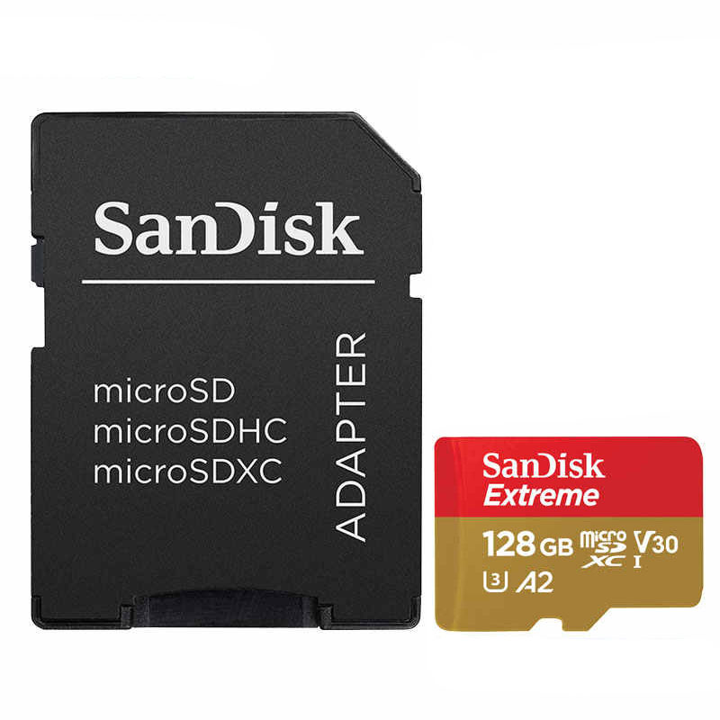 Sandisk Extreme 128GB Micro SD A2 SDXC with Adaptor NEW Image